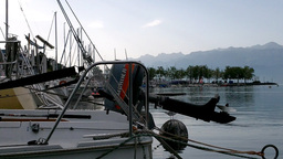 Boats in Port Stock Video Footage