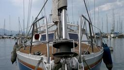 Cutter CloseUp in Port Footage