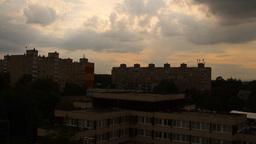Getting Dark Industrial City Footage