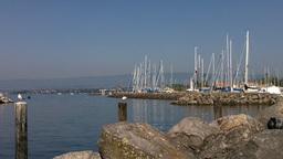 Lake Geneva Lac Leman 01 Lausanne Ouchy Switzerland Stock Video Footage