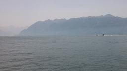 Lake Geneva Lac Leman 14 Stock Video Footage
