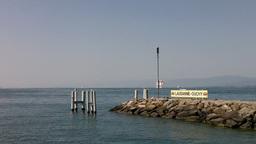 Lake Geneva Lac Leman 16 Lausanne Ouchy Switzerland Stock Video Footage