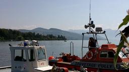 Lake Geneva Lac Leman Port 01 Stock Video Footage