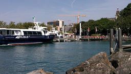 Lausanne Ouchy Switzerland Port 01 Stock Video Footage