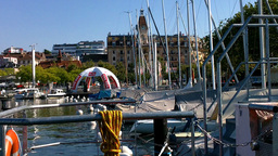 Lausanne Ouchy Switzerland Port 02 Stock Video Footage