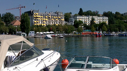 Lausanne Ouchy Switzerland Port 02 Footage