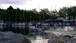 Lausanne Switzerland Port Ouchy 05 Stock Video Footage