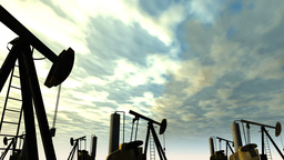 Oil Field 01 Stock Video Footage