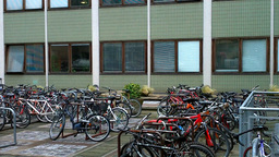 Parked Bikes Stock Video Footage