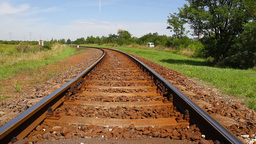 Railway 01 summer Stock Video Footage