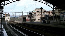 Railway Station Switzerland 01 Footage