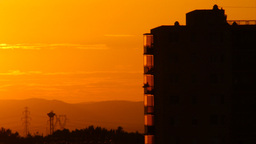 Beautiful Sunset Over Industrial City 05 Stock Video Footage