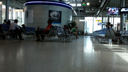 Switzerland Geneva Airport Terminal 01 Stock Video Footage