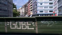 Through Train Window Graffiti Footage