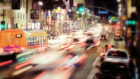 Hollywood Blvd. Time Lapse Stock Video Footage