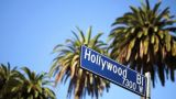 Hollywood Blvd stock footage