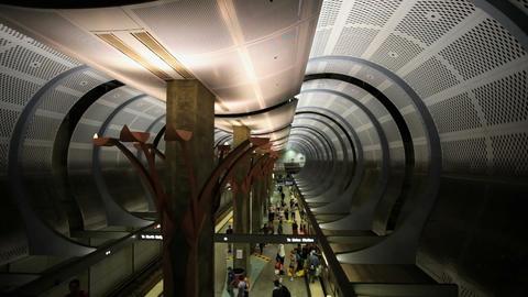 Subway Platform Stock Video Footage