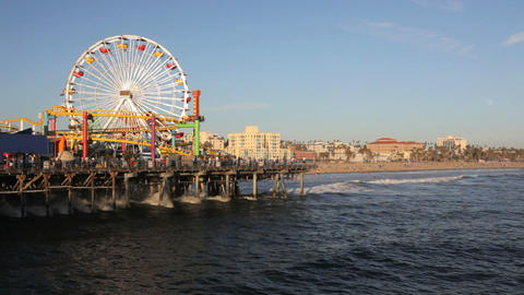 Santa Monica Pier Stock Video Footage