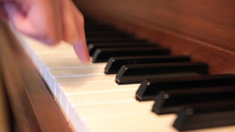 Beginner Piano Stock Video Footage