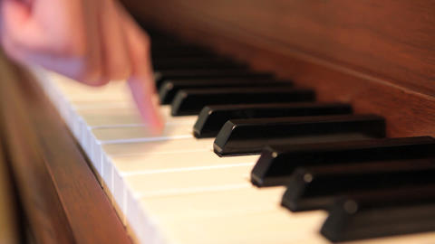 Beginner Piano Stock Video Footage