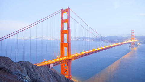 Golden Gate Bridge, time lapse Stock Video Footage