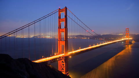 Golden Gate Bridge, time lapse Footage