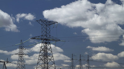high voltage power pylons Stock Video Footage