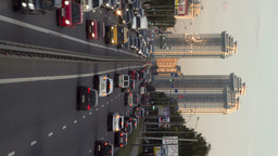 city traffic time lapse Stock Video Footage