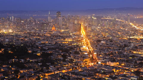 San Francisco, night, time lapse Stock Video Footage