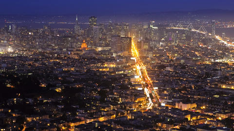 San Francisco, night, time lapse Footage
