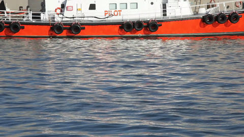 Pilot Boat Stock Video Footage