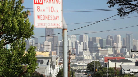 Downtown San Francisco Stock Video Footage