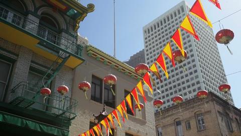 Chinatown lanterns Stock Video Footage