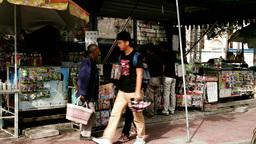 Beijing China Street 10 stylized filmlook Stock Video Footage