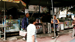 Beijing China Street 10 stylized filmlook Footage