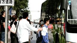 Beijing China Street 12 stylized filmlook Stock Video Footage