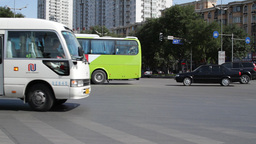 Beijing China Traffic 01 neutral high dynamic color Stock Video Footage