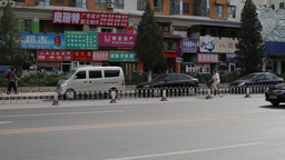 Beijing China Traffic 05 neutral high dynamic color Stock Video Footage