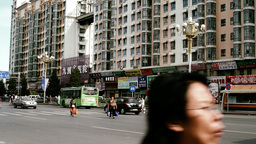 Beijing China Traffic 07 stylized filmlook Stock Video Footage