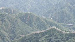 Great Wall in China 01 neutral high dynamic color PAN Stock Video Footage
