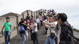 Great Wall in China 02 neutral high dynamic color DOLLY Stock Video Footage