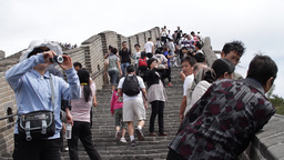 Great Wall in China 03 neutral high dynamic color Stock Video Footage