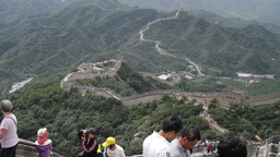 Great Wall in China 05 neutral high dynamic color TILT UP Footage