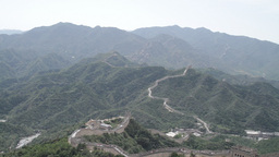 Great Wall in China 05 neutral high dynamic color TILT UP Stock Video Footage