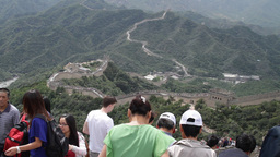 Great Wall in China 07 neutral high dynamic color DOLLY Stock Video Footage