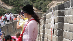 Great Wall in China 09 neutral high dynamic color DOLLY Stock Video Footage