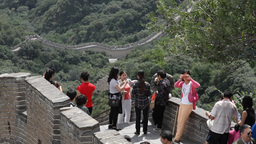 Great Wall in China 13 neutral high dynamic color Stock Video Footage