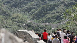 Great Wall in China 17 neutral high dynamic color DOLLY Stock Video Footage