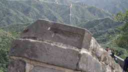 Great Wall in China 21 neutral high dynamic color DOLLY Stock Video Footage