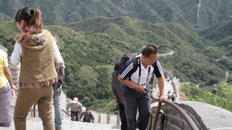 Great Wall in China 25 neutral high dynamic color Stock Video Footage